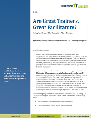 Article - Are Great Trainers Great Facilitators?