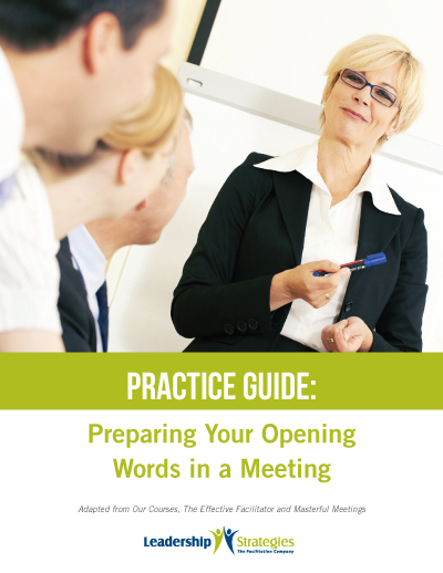 Practice Guide: Preparing Your Opening Words